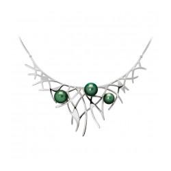 Collier Argent 2 perles...