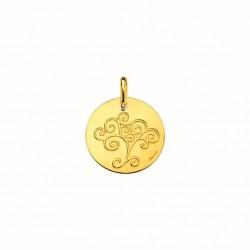 Médaille or jaune 750 °/°°...