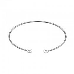 bracelet rigide argent LUCKY