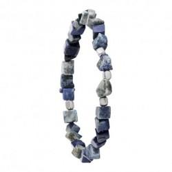 bracelet argent BOREAL- LAPIS